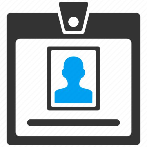 access card, account, badge, certification, person, profile, ticket icon