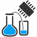 chemical, chemistry, digital, experiment, lab, laboratory, test icon