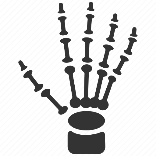 finger, fingers, gesture, hand, palm, skeleton, xray icon