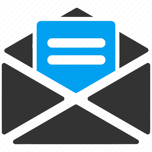 communication, email, envelope, letter, mail, message, open icon