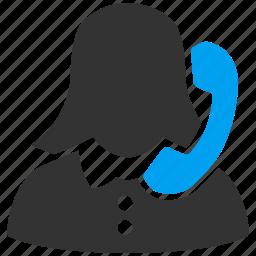 call, communication, connection, phone, secretary, talk, telephone icon