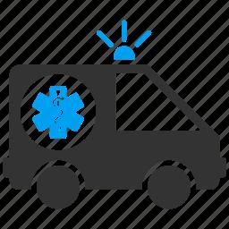 ambulance, car, healthcare, medical, transport, transportation, vehicle icon