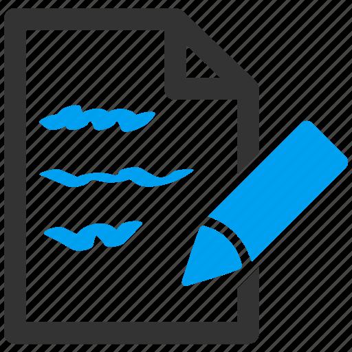 change, document, edit, modify, paper, pencil, text icon