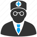 clinic, doctor, head physician, healthcare, medical boss, medicine, practitioner icon