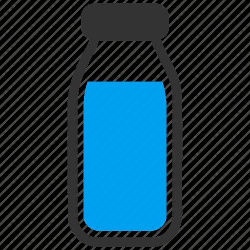 beverage, bottle, drink, glass, milk, phial, vial icon