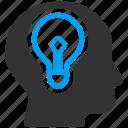 mind, brain, bulb, idea, lamp, power