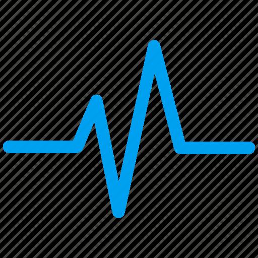 cardio, chart, graph, heart, heartbeat, pulse, statistics icon