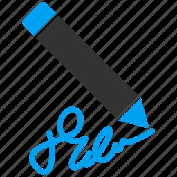 design, draw, pen, pencil, sign, signature, subscribe icon