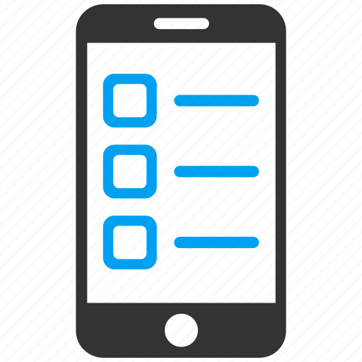 form, items, list, phone, smartphone, telephone, test icon