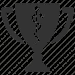achievement, award, cup, drink, prize, reward, trophy icon
