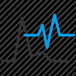 analytics, cardio, cardiograms, charts, diagram, ecg, graph icon