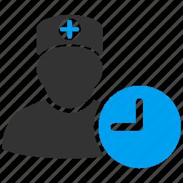 calendar, clock, diary, doctor, medical, plan, schedule icon