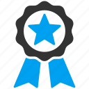 achievement, badge, best, favorite, guarantee, prize, seal icon