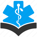 book, education, healthcare, knowledge, learning, medical, medicine icon