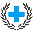 embleme, healthcare, hospital, medical, medicine, prize, reward icon