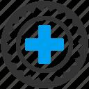 certification, health, hospital, medical, medicine, seal, stamp icon