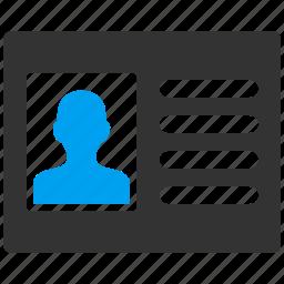 account, card, data, info, patient, person, profile icon