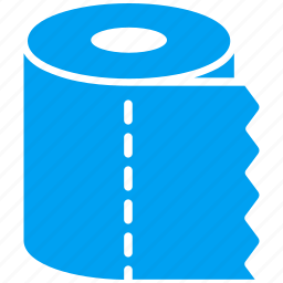 bathroom, clean, lavatery, reel, roll, toilet paper, wc icon