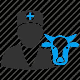 cow, doctor, healthcare, medicine, vet, veterinarian, veterinary icon