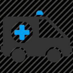 ambulance, car, clinic, emergency, medicine, rescue, transport icon
