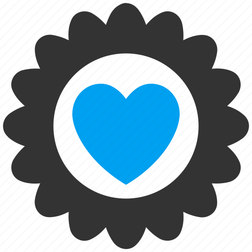 award, best, favorite, heart, like, stamp, valentine icon