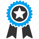 achievement, award, best, prize, quality, stamp, trophy icon