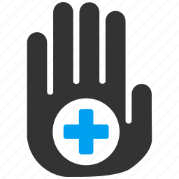 aim, alert, gesture, hand, stop, target, warning icon