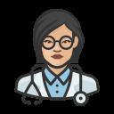 asian, coronavirus, doctor, female