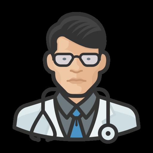 Asian, coronavirus, doctor, male icon - Free download