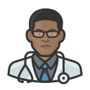 black, coronavirus, doctor, male icon