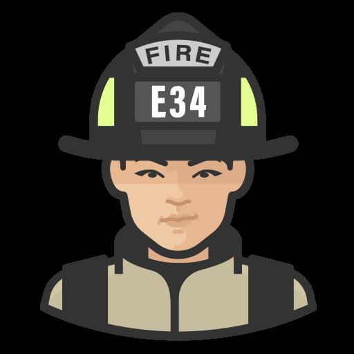 Asian, coronavirus, female, firefighter icon - Free download