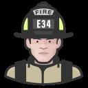 coronavirus, firefighter, male, white