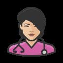 asian, coronavirus, female, nurse icon