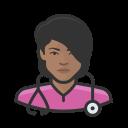black, coronavirus, female, nurse icon
