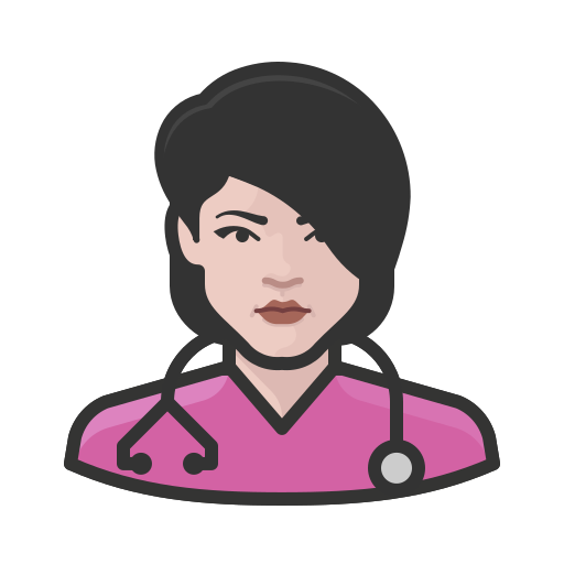 Coronavirus, female, nurse, white icon - Free download