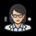asian, coronavirus, female, pharmacist