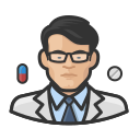 asian, coronavirus, male, pharmacist icon