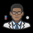 black, coronavirus, male, pharmacist icon