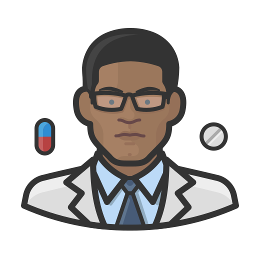 Black, coronavirus, male, pharmacist icon - Free download