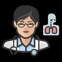 asian, coronavirus, female, pulmonologist