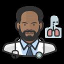 black, coronavirus, male, pulmonologist icon