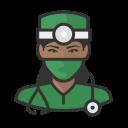 black, coronavirus, female, surgeon