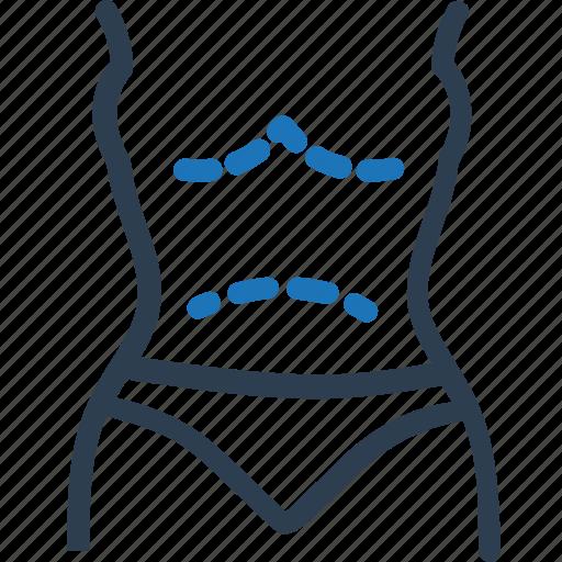 breasts, liposuction, plastic surgery icon