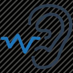 hearing, hearing test, listen, sound icon