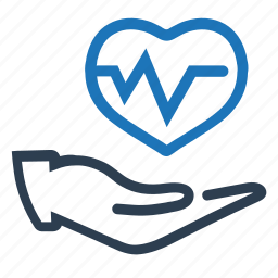 health, heart, heart care, insurance, protection, pulse icon