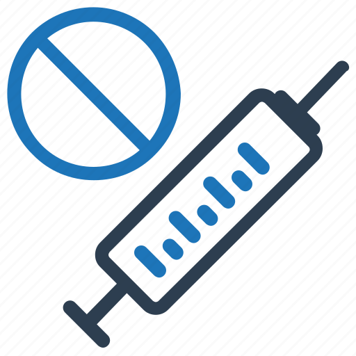ban, drugs, forbidden, injection, prohibited, syringe icon
