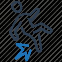 accident, fall, risk, slip icon