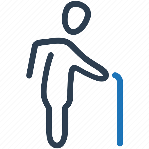 back, backache, old man, osteoporosis, pain icon