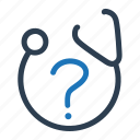 ask, doctor, health, medical, question icon