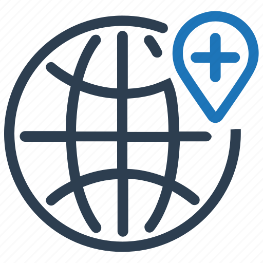 global, healthcare, medical care icon